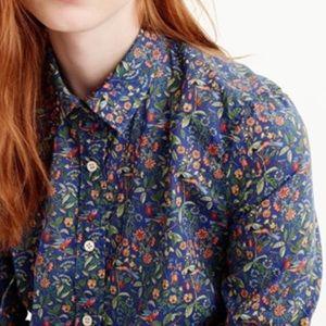 J. Crew Liberty London Catsby floral perfect shirt